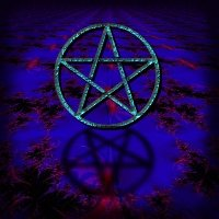Pentacle Shadow, black background